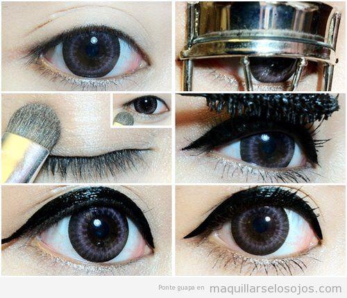Maquillaje de ojos estilo asiático, paso a paso