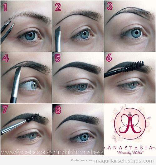 Tutorial con fotos para aprender a maquillar las cejas paso a paso