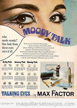 Estilos de maquillaje de ojos años 60