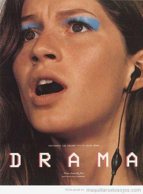 Maquillaje de ojos, Gisele Bundchen en 1999,