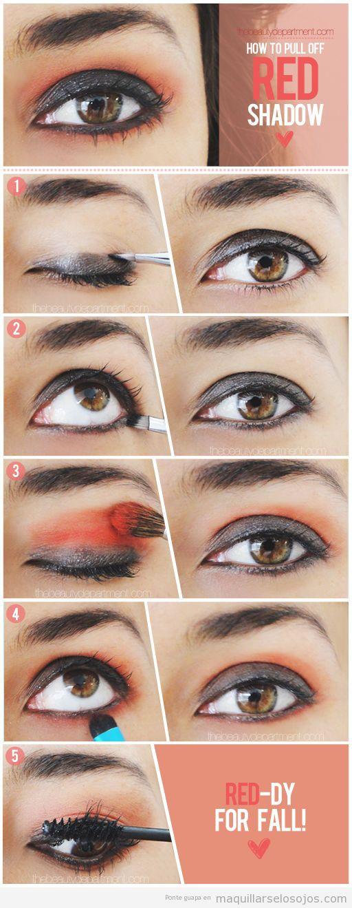 Tutorial paso a paso, maquillaje de ojos para otoño 2013