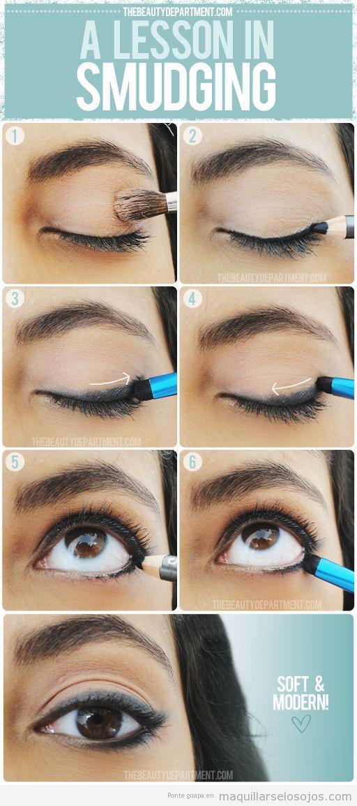 Maquillaje de ojos, tutorial para aprender a difuminar la línea del ojo