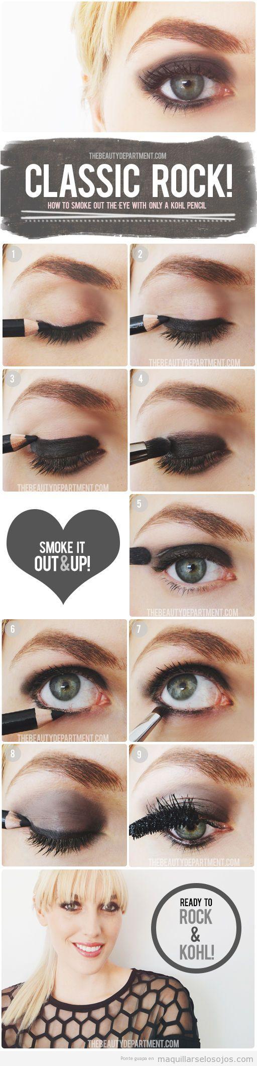 Tutorial paso a paso aprender maquillar ojos ahumados de manera fácil