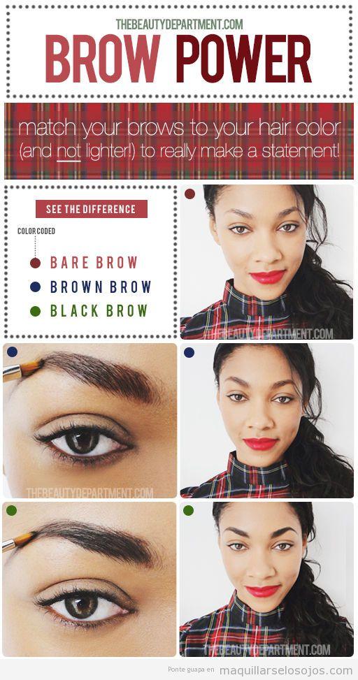 Tutorial paso a paso maquillaje cejas en 3 estilos distintos
