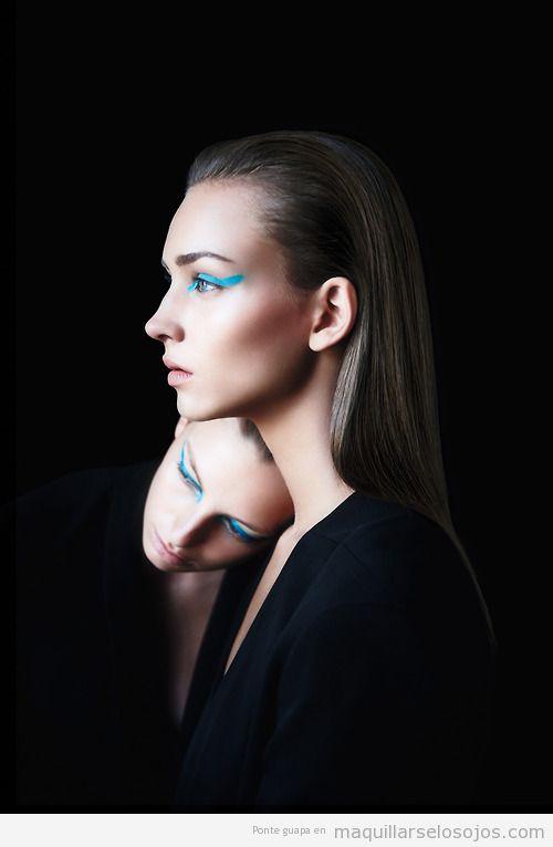 Ideas maquillaje ojos azul turquesa, primavera verano