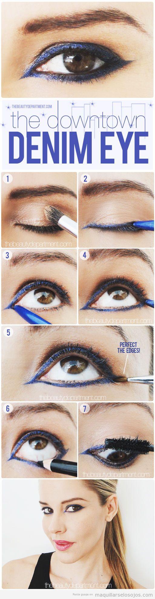 Tutorial para aprender a maquillar los ojos estilo denim o tejano