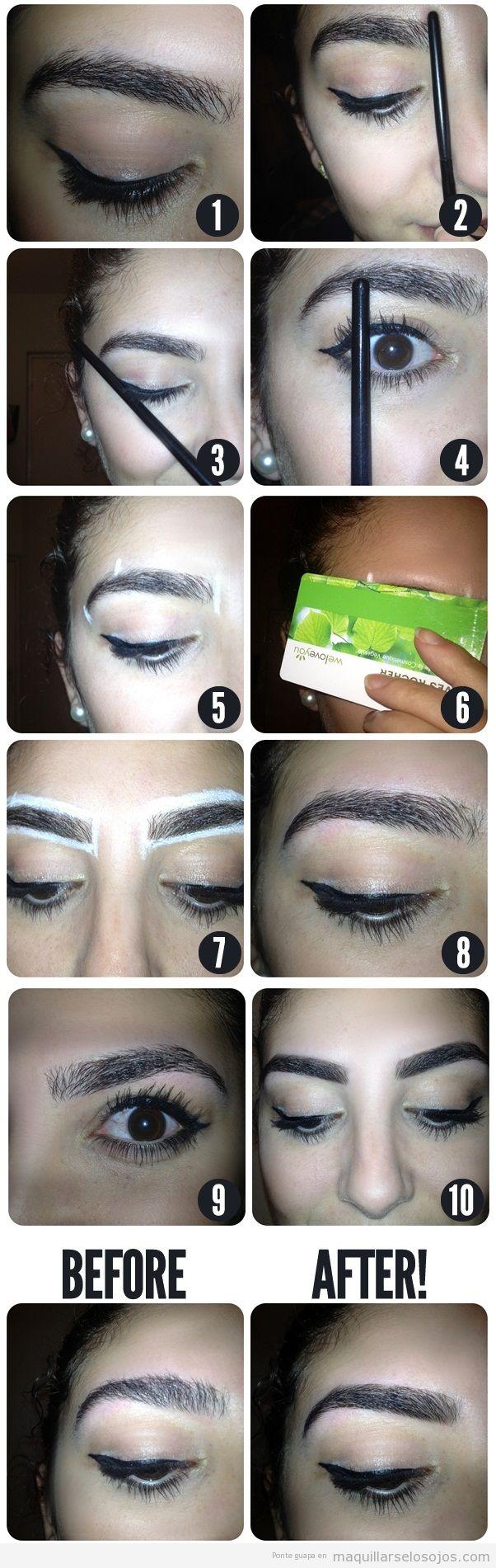 Consejo y trucos para maquillar las cejas