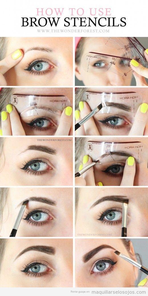 Tutorial para hacer un maquillaje de cejas con plantilla