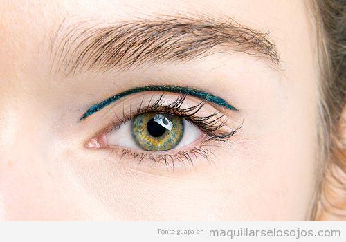 Maquillaje ojos eyeliner pliegue de párpado