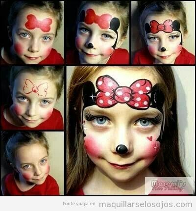 Tutorial maquillaje niñas Minnie Mouse