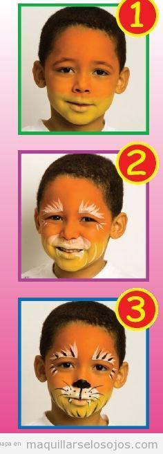 Tutorial maquillaje niños león