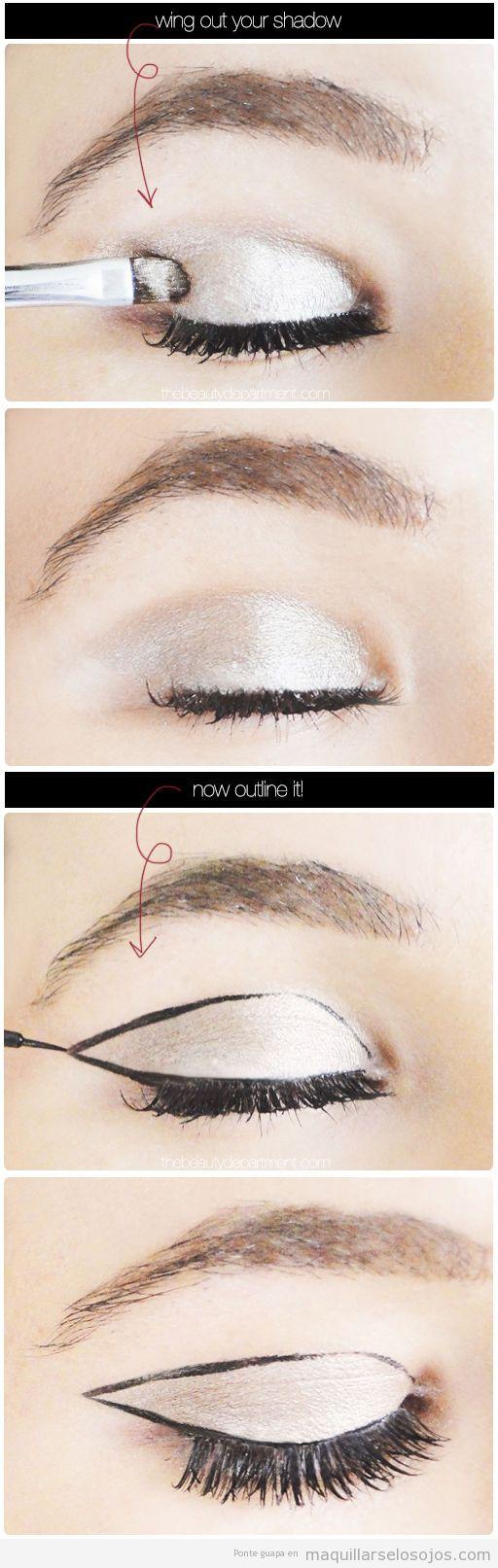 Tutorial maquillaje ojos para una fiesta, paso a paso 2