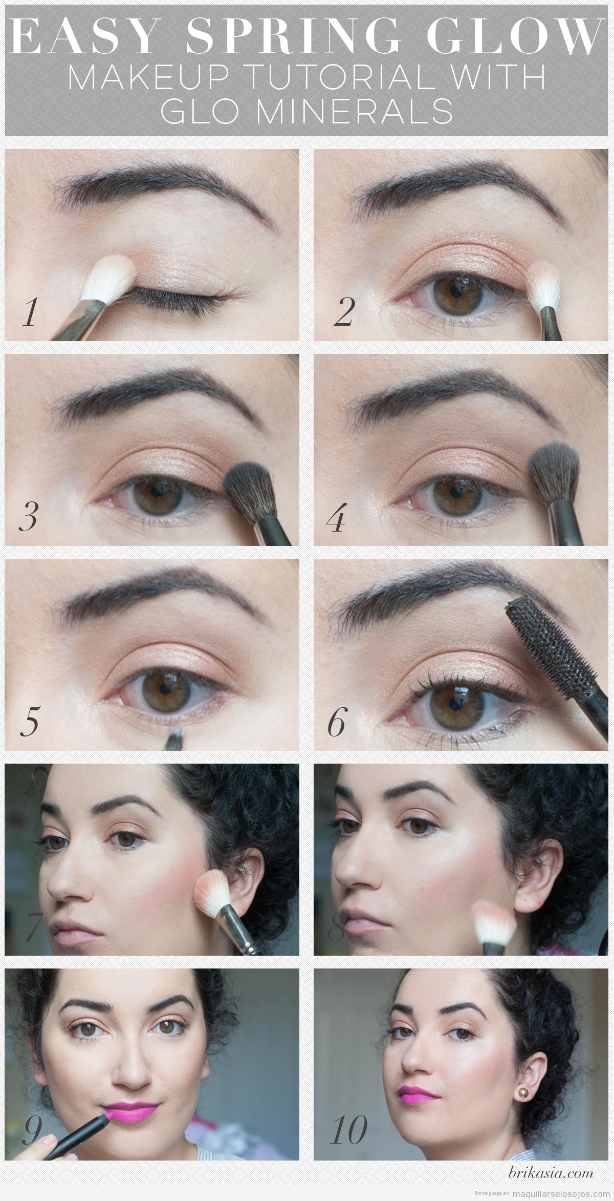 Tutorial maquillaje fácil ojos primavera en tonos minerales