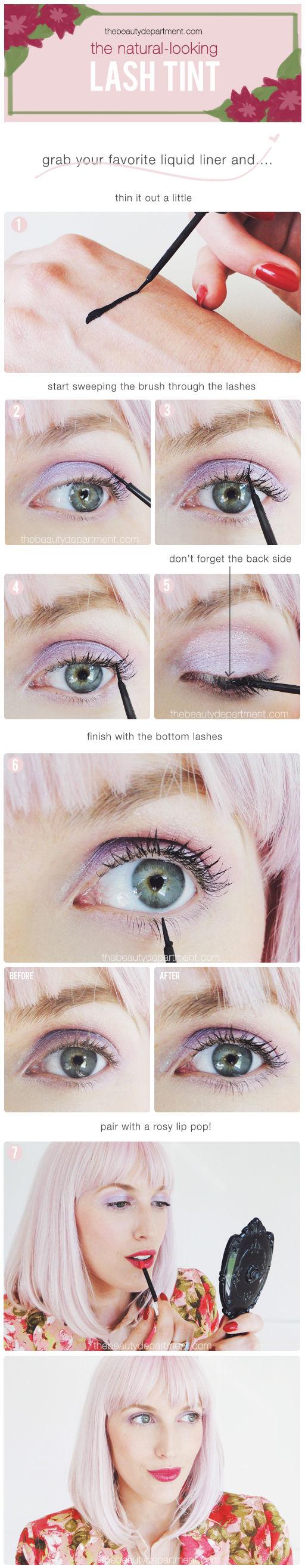 Tutorial truco pintar pestañas con eyeliner líquido