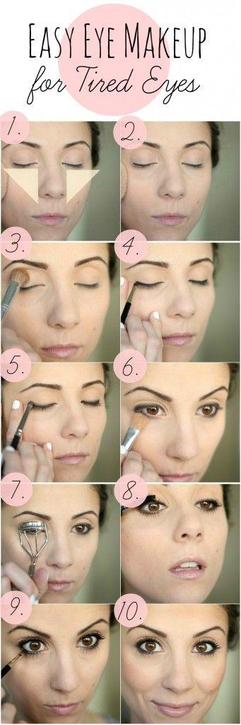 Tutorial para hacerse un maquillaje para ojos cansados