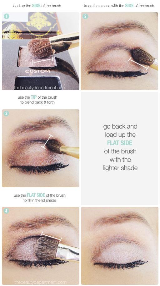 Tutorial para maquillarse los ojos en tonos crema y marrón ahumado 2