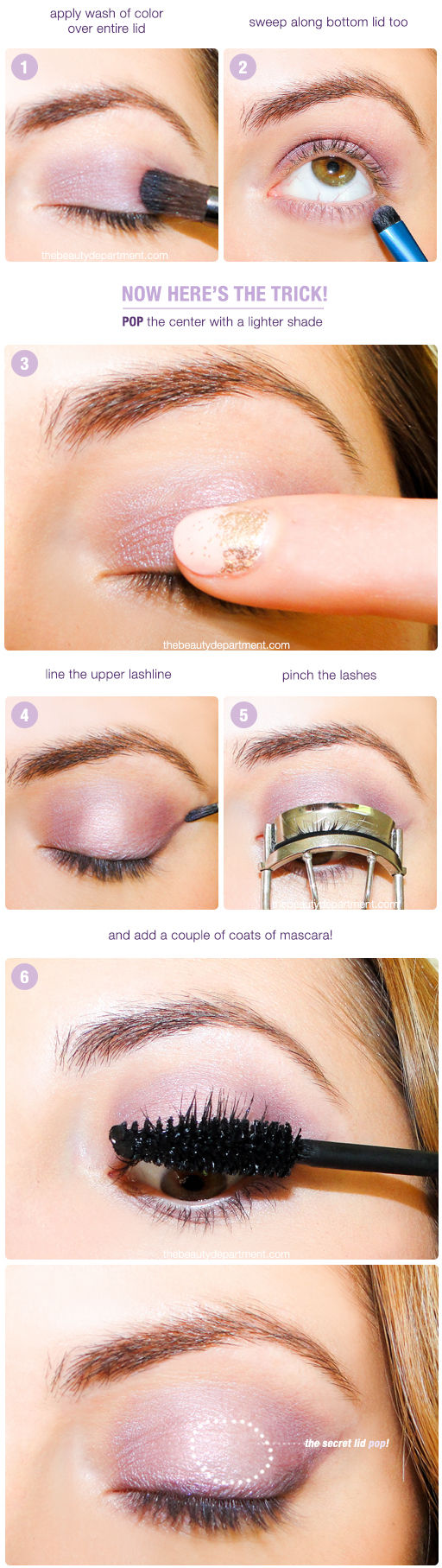 Tutorial maquillaje de ojos con sombra en tonos lilas