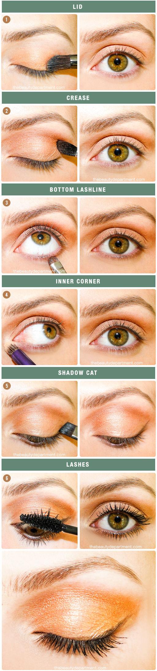 Tutorial maquillaje ojos otoño tonos naranjas