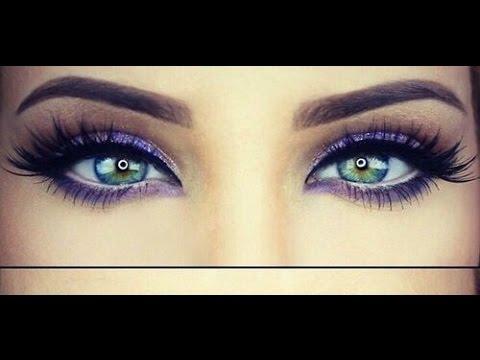 Maquillaje ojos Navidad color azul color lila