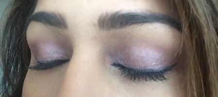 Maquillaje ojos para cada día en tonos lila y rosa