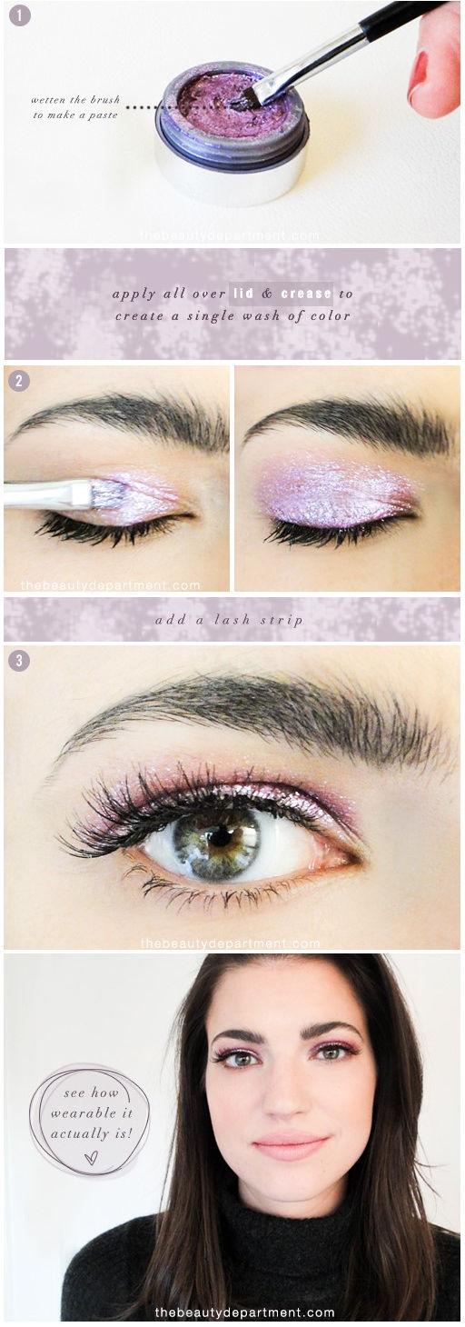 Maquillaje primavera 2016, tutorial sombra ojos color lavanda
