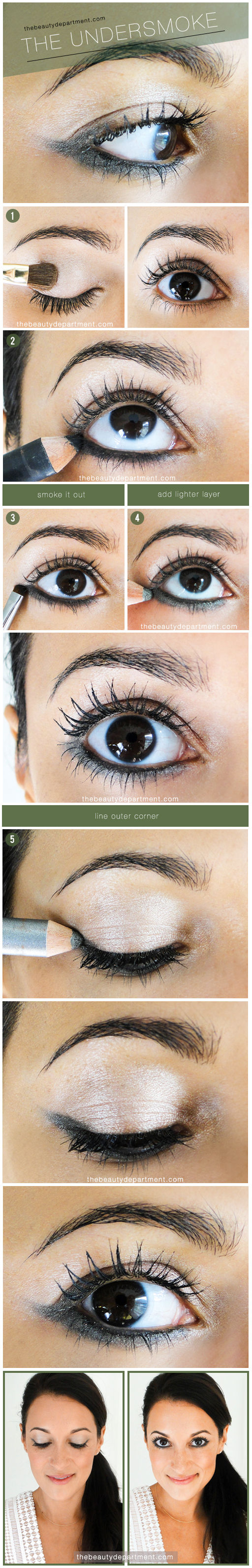Tutorial maquillaje ojos ahumado párpado inferior