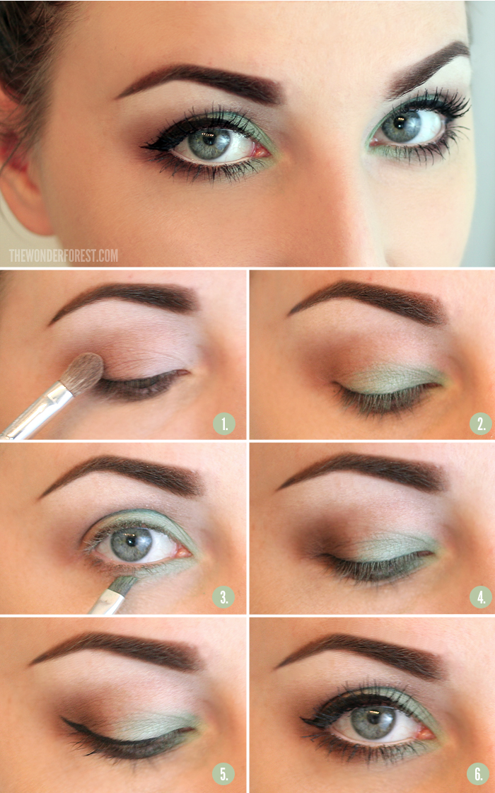 Tutorial maquillaje ojos verde claro y ahumado para primavera
