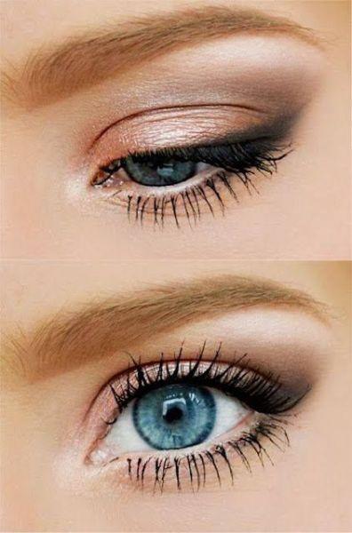 Maquillaje de ojos con el perfilado alado hecho con sombras difuminadas