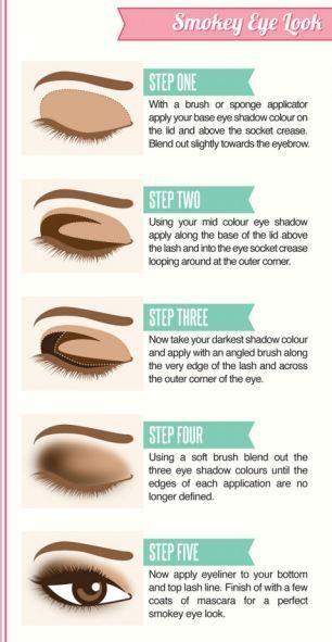 Tutorial con instrucciones para maquillaje ojos ahumado
