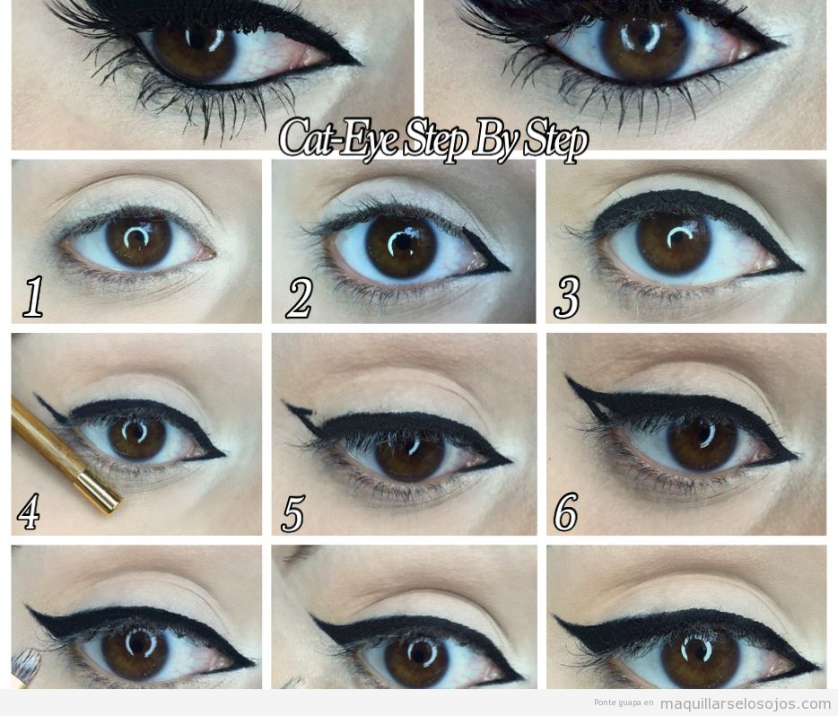 Tutorial cat eye u ojo de gato