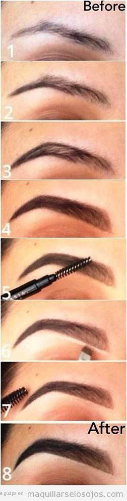 Tutorial maquillaje cejas con forma natural