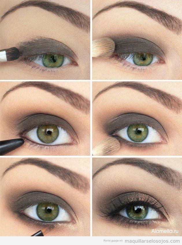 f4f446f1d Cuatro tonos de sombras entre marrón y gris, maquillajes para ojos ...