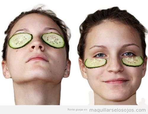 Consejos naturales cuidar piel contorno de ojos con pepinos