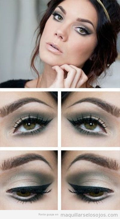 Ideas para maquillar ojos de color verde 4