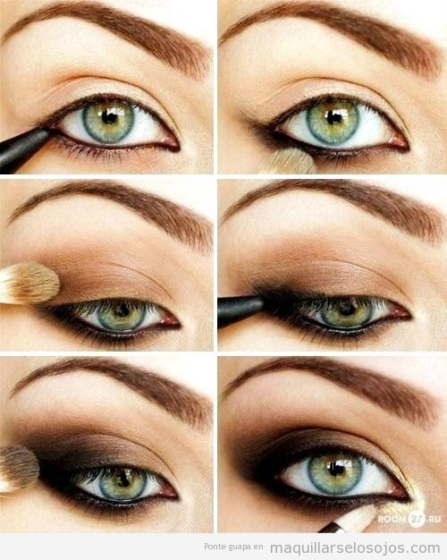 Ideas para maquillar ojos de color verde 3
