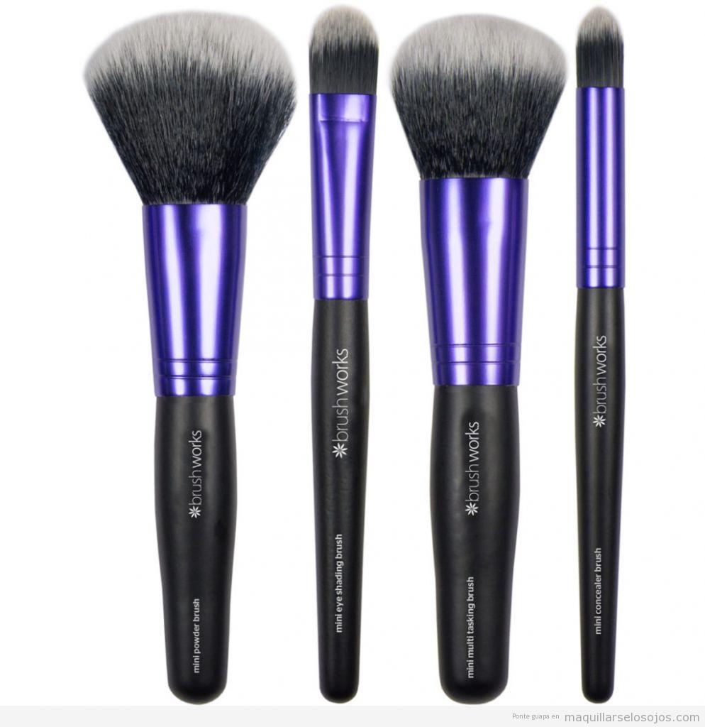Pinceles maquillaje de marca Brush Works baratos, outlet