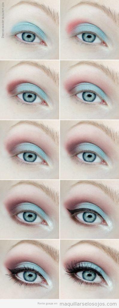 Maquillaje ojos primavera con sombra color menta