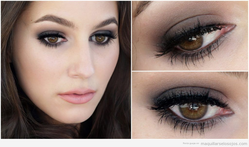 Maquillaje ojos ahumado para noche y fiesta en tonos grises