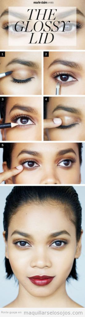 Tutorial maquillaje de ojos con párpados glossy o brillantes 4