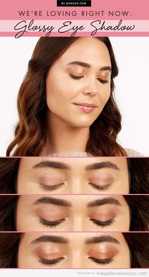 Tutorial maquillaje de ojos con párpados glossy o brillantes