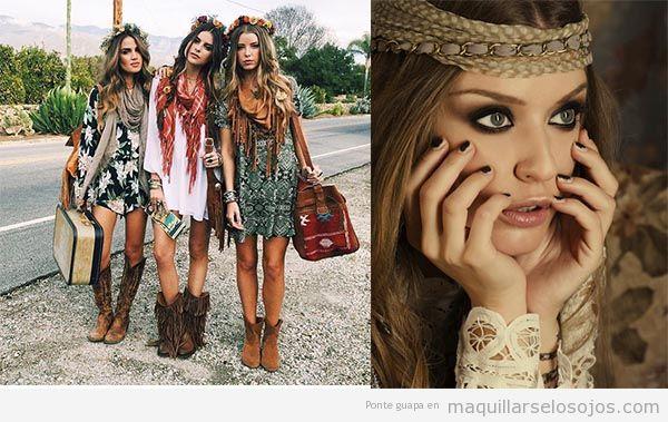 Maquillaje para look boho y hippie