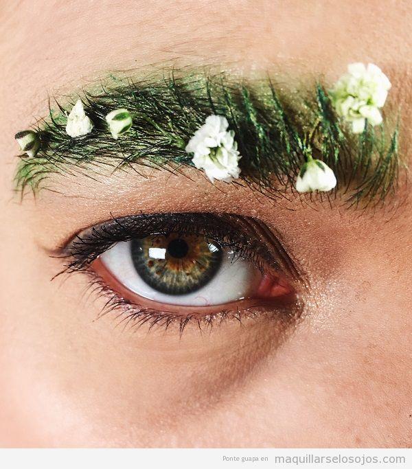 Cejas jardín tendencia maquillaje primavera 2018 4
