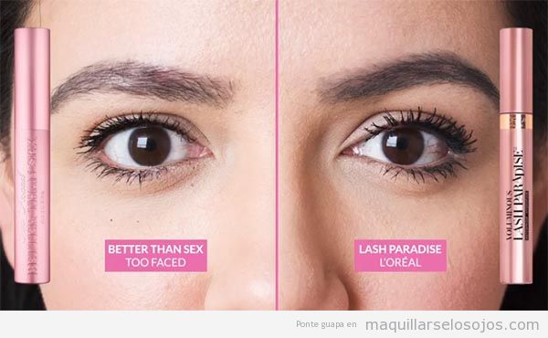 Comparativa Lash Paradise de L'Oréal y Better Than Sex de Too Faced 2