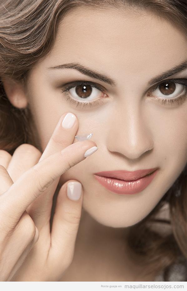 Consejos maquillarse los ojos con lentillas