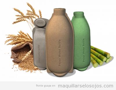 Envases ecológicos botellas de papel