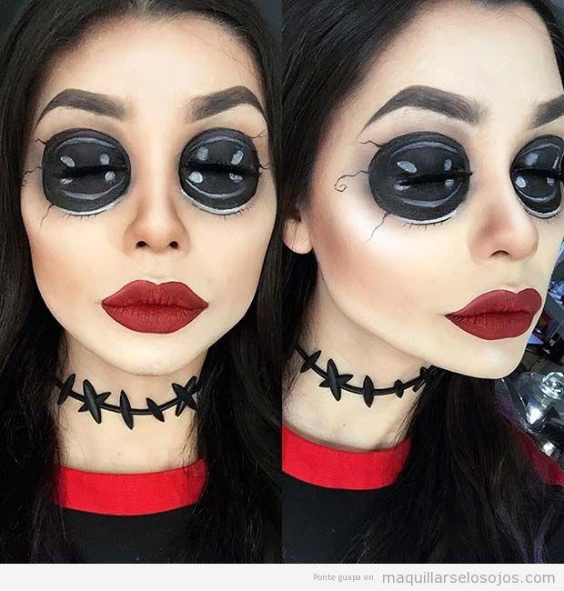 Maquillaje original Halloween, Los mundos de Coraline