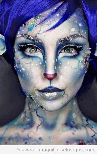 Maquillaje fantasía congelada