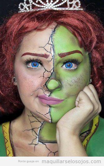 Maquillaje fantasía Fiona Shrek
