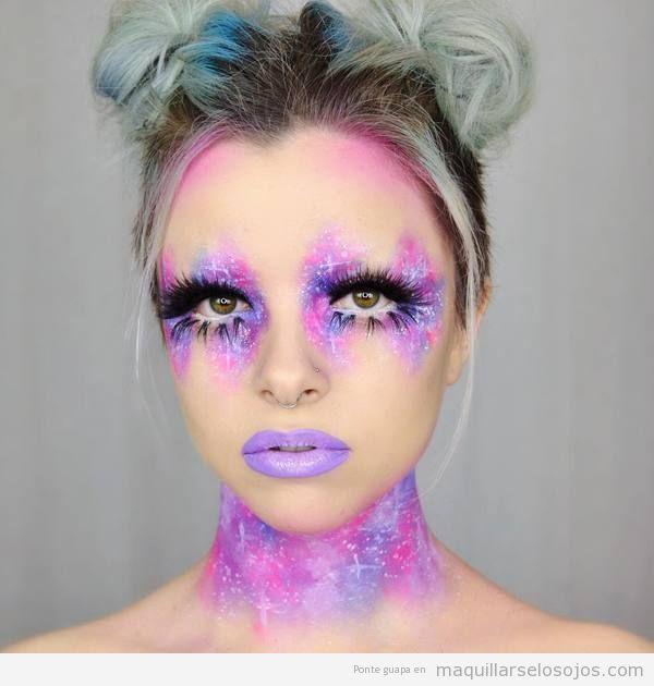 Maquillaje fantasía galaxia