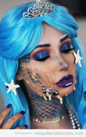 Maquillaje fantasía sirena